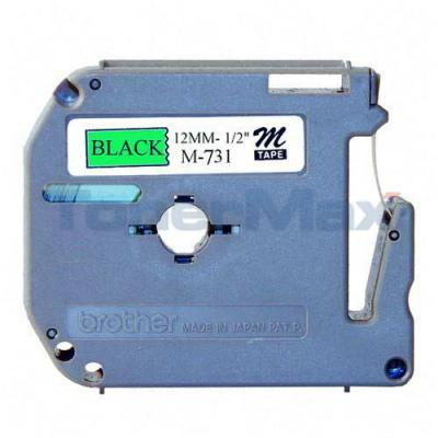 BROTHER P-TOUCH TAPE BLACK/GREEN (1/2 X 26)